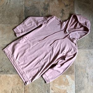 Light pink/ mauve sweatshirt with destroyed detail